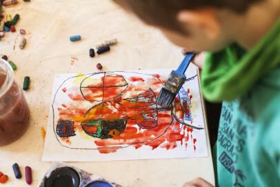 """""""Monster"""", selbst erschaffen mit Ölkreide und Wasserfarben!"""