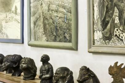 Kohlezeichnungen und Skulpturen Otto Pankoks