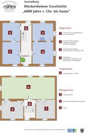 Übersicht über die Ausstellungsräume