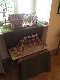 Modell eines Langhauses, wie es die Bandkeramiker bewohnten
