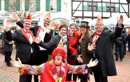 Eröffnung des Karnevalkabinetts in Monheim