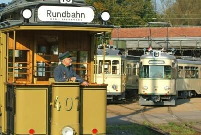 Straßenbahn-Museum Thielenbruch, Außengelände