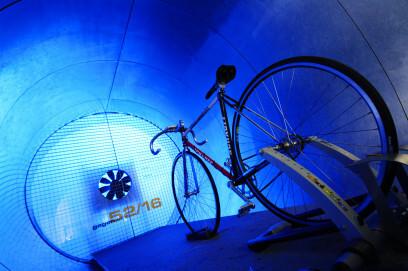 Fahrrad im Windkanal, Ausstellung