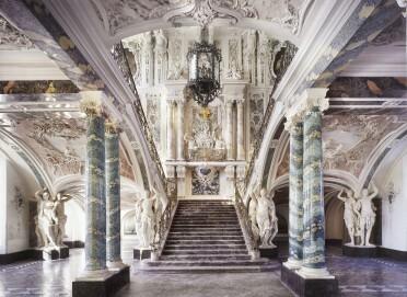 Schloss Augustusburg in Brühl, Prunktreppe. Entwurf: Balthasar Neumann