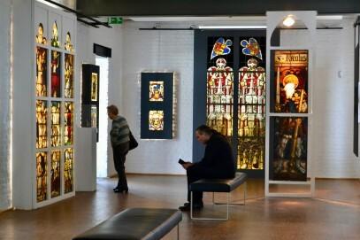 Blick in eine der Ausstellungsebenen