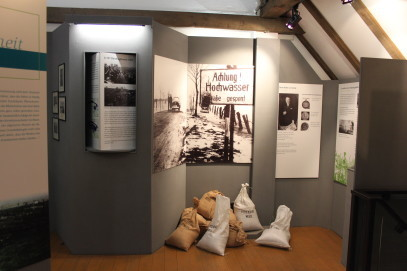 Blick in die Rhein-Deich-Ausstellung